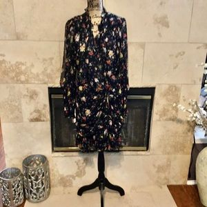 NWT Veronica Beard black floral dress, size 14